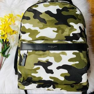 MICHAEL KORS KENT CAMO OLIVE GREEN BACKPACK NYLON